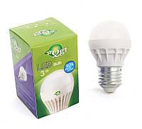 Светодиодная лампа Led или лед лампочка, купить энергосберегающию диодную лампу QGT 3W 6000K 220V E27 (777)