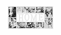 """Мультирамка, 10 фотографий, """"Home"""" белая, Белый, Пластик, Коллаж из 10-х фото"""