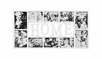 Фоторамка или рамка для фото, купить мультирамку коллаж из фотографий на стену Youngpig  «Home» 71.5х37.5х2 см. белая (221)