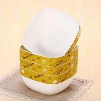 4шт. Квадратная чаша столовая коробка для хранения еды Светло-зеленый
