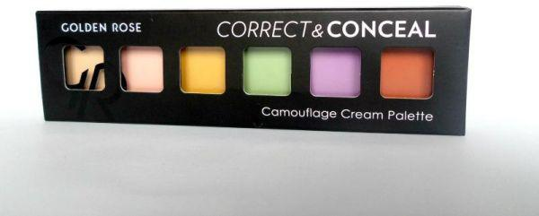 Палитра консилеров для лица Golden Rose Correct&Conceal Concealer Cream Palette-цветная