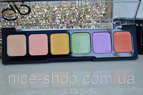 Палитра консилеров для лица Golden Rose Correct&Conceal Concealer Cream Palette-цветная, фото 2