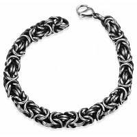 H027 Модный мужской стальной браслет-цепочка на руку из стали 316L Серебристый