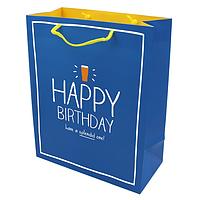 Подарочный бумажный пакет, оригинальня упаковка для подарка «Happy Birthday»