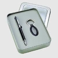 Набор подарочный (авторучка, брелок и футляр металл) V1384