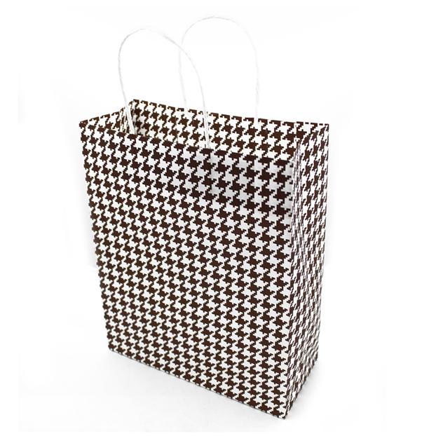 Подарочный бумажный пакет, оригинальня упаковка для подарка «Стиль» коричневый 4 цвета, Красный