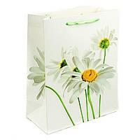 Подарочный бумажный пакет, оригинальня упаковка для подарка «Цветы» подснежник