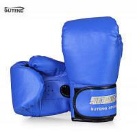 SUTENG 1 пара PU бокс борьба с песком перчатки Синий