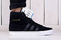 Кроссовки мужские зимние на меху Adidas Winter Street Style Black (реплика)