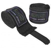 SUTENG 1 пара хлопок бокс Handwrap пробивать боевые повязки Чёрный