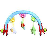 Детская коляска висит погремушки Мобильная игрушки со звуком Цветной