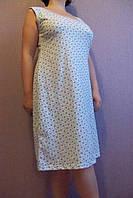 Женская ночная рубашка (бабушкина) мелкие бирюзовые цветы размер 50,52