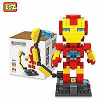LOZ 250Pcs L-9447 The Avengers Iron Man строительный блок игрушка для повышения способности социального сотрудничества Жёлтый и красный