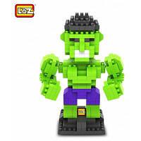 LOZ 290шт L-9451 Мстители Халк развивающая игрушка-конструктор для улучшения возможностей социального сотрудничества Зелёный