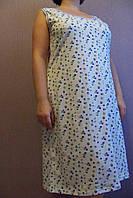 Женская ночная рубашка (бабушкина) незабудки размер 48,60