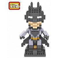 LOZ 250шт. L-9457 Супергерой Бэтмен Строительный блок Игрушки для повышения способности социального сотрудничества Чёрный