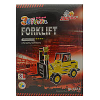 3D пазлы или 3 д конструктор, купить детские 3д пазли Строительные машины, «Форклифт»