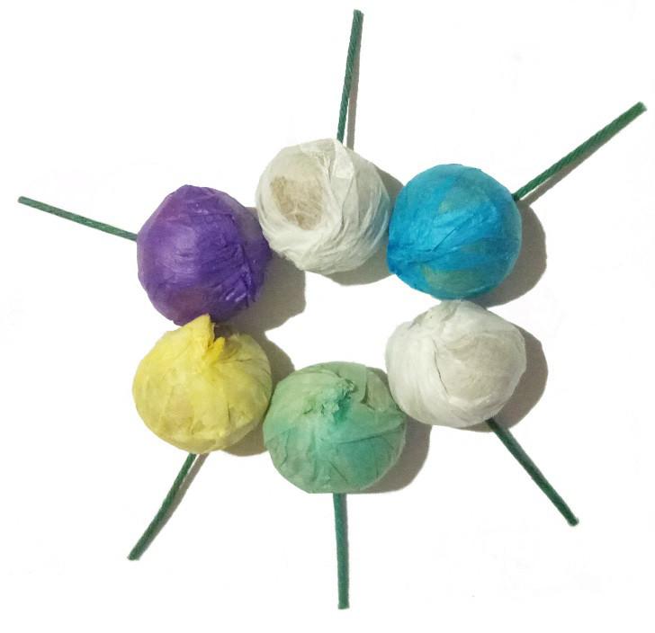 Набір кольорових димових кульок 5-ть штук + 6-та в подарунок, кольорові кульки, димові кульки - фото 1