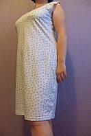 Женская ночная рубашка (бабушкина) подснежники размер 48,60