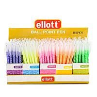 Ручка шариковая в цветном корпусе в линии, ELLOTT, синий цвет, 150 шт/уп