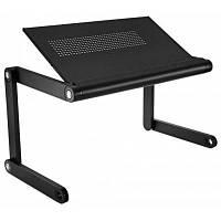 OMAX K6 портативный стол для ноутбука складной стол вентилируемый стенд светло-черный