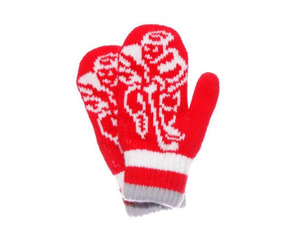 Дитячі теплі красиві в'язані рукавиці на дівчинку., фото 2