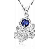 N121-a 925 Серебряный позолоченный Бренд ожерелье новое дизайн ожерелья Шкентеля ювелирных изделий для женщин Синий