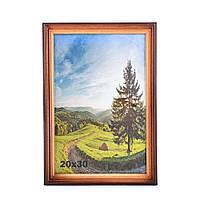 Рамка деревянная 20х30 см, Коричневый, Дерево