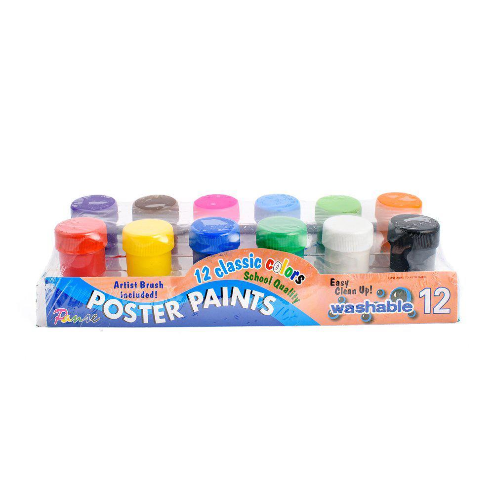 Краски гуашевые Poster paints, 12 шт/уп