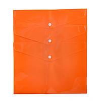 Папка Axent А4 на кнопці 12 шт / уп, помаранчева