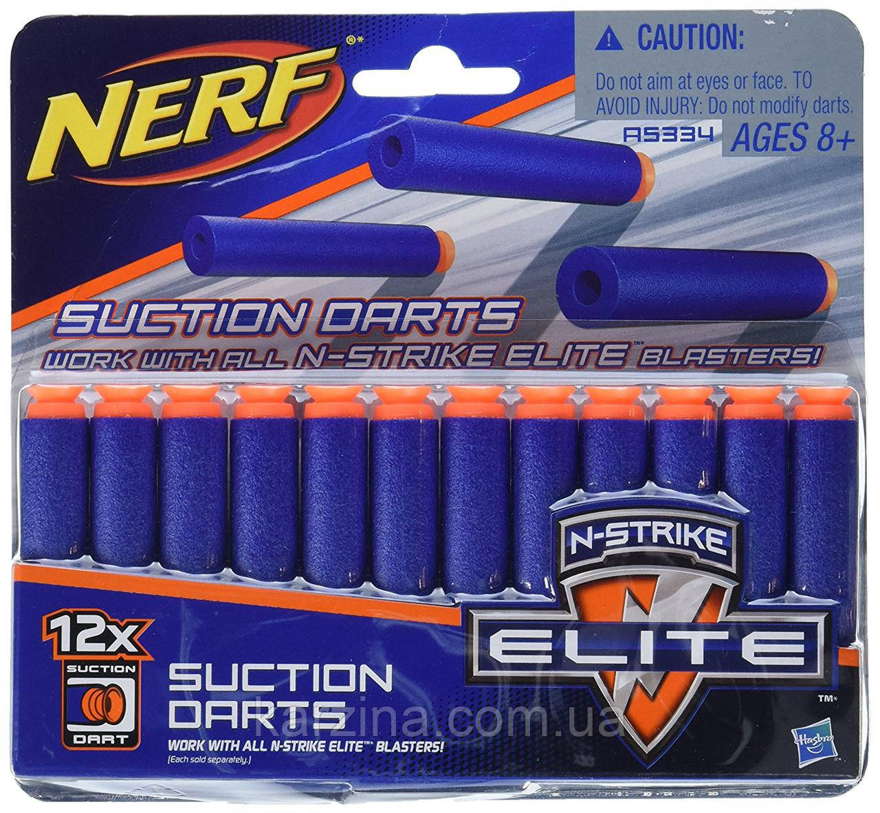 Пули для бластера Nerf Elite Series Suction 12 шт.