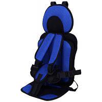 Mumugongzhu удобная воздухопроницаемое регулируемое детское автокресло Сапфирово-синий