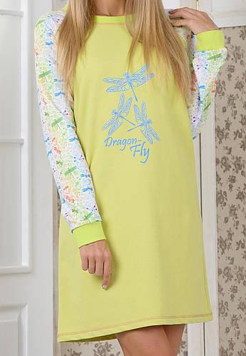 Домашняя сорочка Стрекоза женскаятрикотажная пижама мягкая хлопок