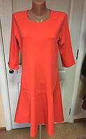 Интересное брендовое яркое коралловое платье Esmara