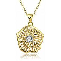 N124-ожерелье циркон ювелирные изделия 24k золото покрытием ожерелье Золотой