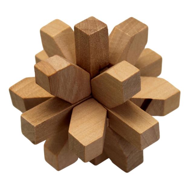 Головоломка из дерева, логическая игрушка «Снежинка»