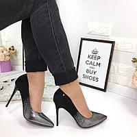 Женские туфли лодочки с ефектом омбре 2888