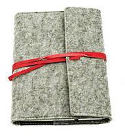 Оригинальный блокнот, купить планер или планировщик, ежедневник фетр Youngpig «DELICATE» завязка, красн (505)