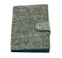 Оригинальный блокнот, купить планер или планировщик, ежедневник фетр на заклепке Youngpig «Синие стр» (506)