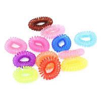 12шт Силиконовые эластичные ленты для волос в форме телефонного провода резинка для волос для девушки аксессуары для волос Цветной