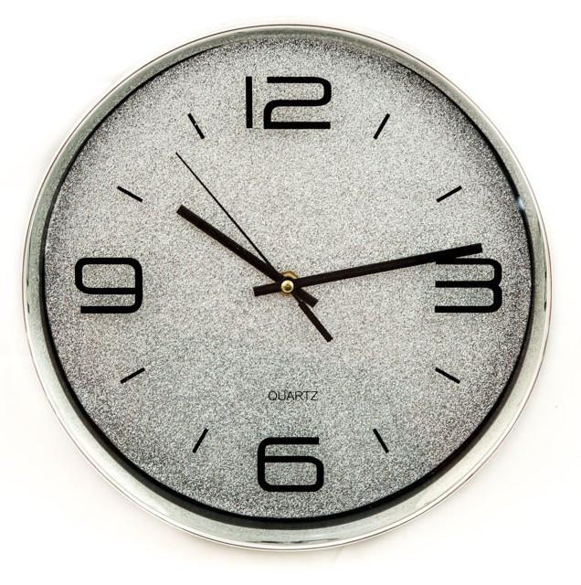 Часы настенные D618L8 серебряные