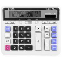 Deli 2135 Настольный калькулятор на солнечной батарее с большими кнопками и ЖК-экраном Разноцветный