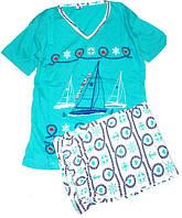 Пижама люкс Турция футболка и капри М ( наш размер 44)
