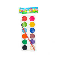 Краски акварельные 12 цветов в пластиковой упаковке