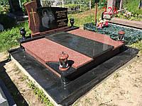 Памятник двойной из гранита лезники и габбро