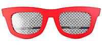 Фоторамка, 2 фотографии «Очки», красная, Красный, Пластик, Коллаж из 2-х фото