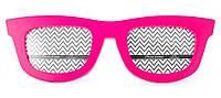 Фоторамка, 2 фотографии «Очки», розовая, Розовый, Пластик, Коллаж из 2-х фото