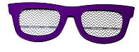 Фоторамка, 2 фотографии «Очки», фиолетовая, Фиолетовый, Пластик, Коллаж из 2-х фото