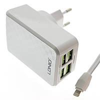 Сетевой адаптер (зарядное устройство) LDNIO DL-AC62 4xUSB 4.2A + кабель micro USB