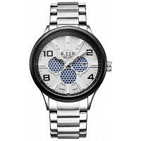 6.11 GD008 мужчин Фотоэлектрического преобразования часы серебристый и белый